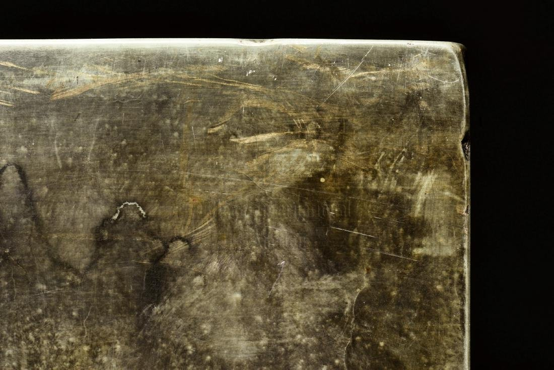 SONGHUA STONE INSCRIBED INK STONE - 6