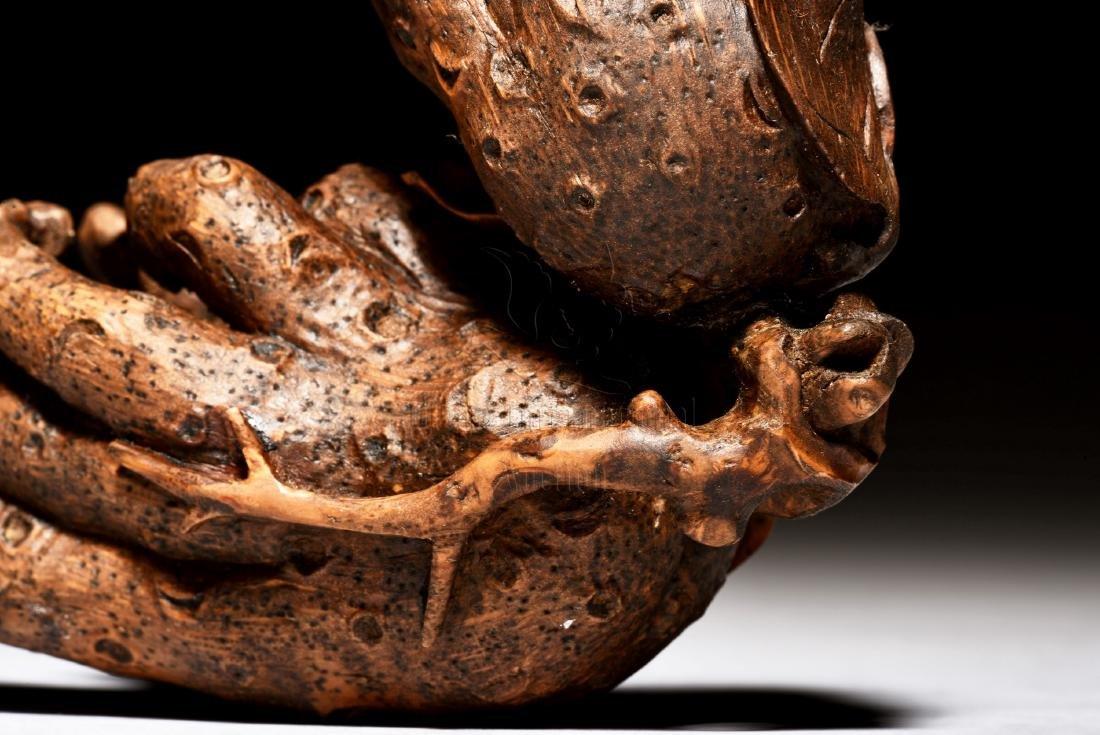 BAMBOO CARVED BUDDHA'S HAND FIGURE - 6