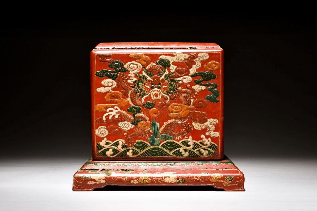 WOODEN LACQUER BOX - 2
