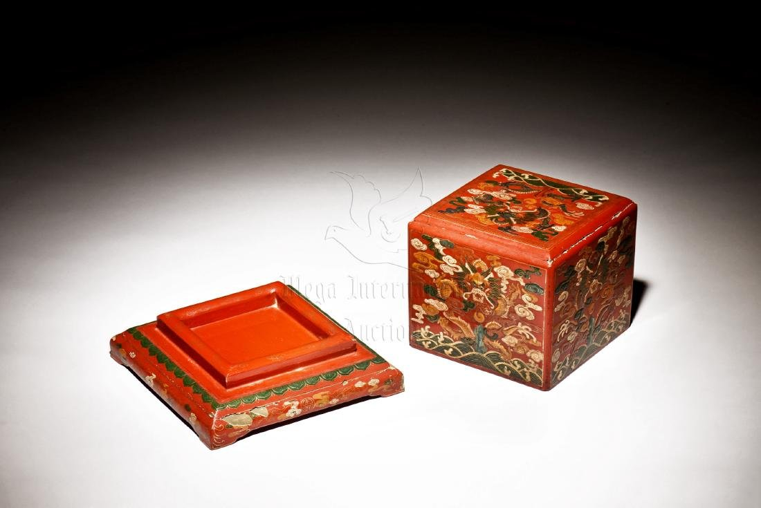 WOODEN LACQUER BOX - 3