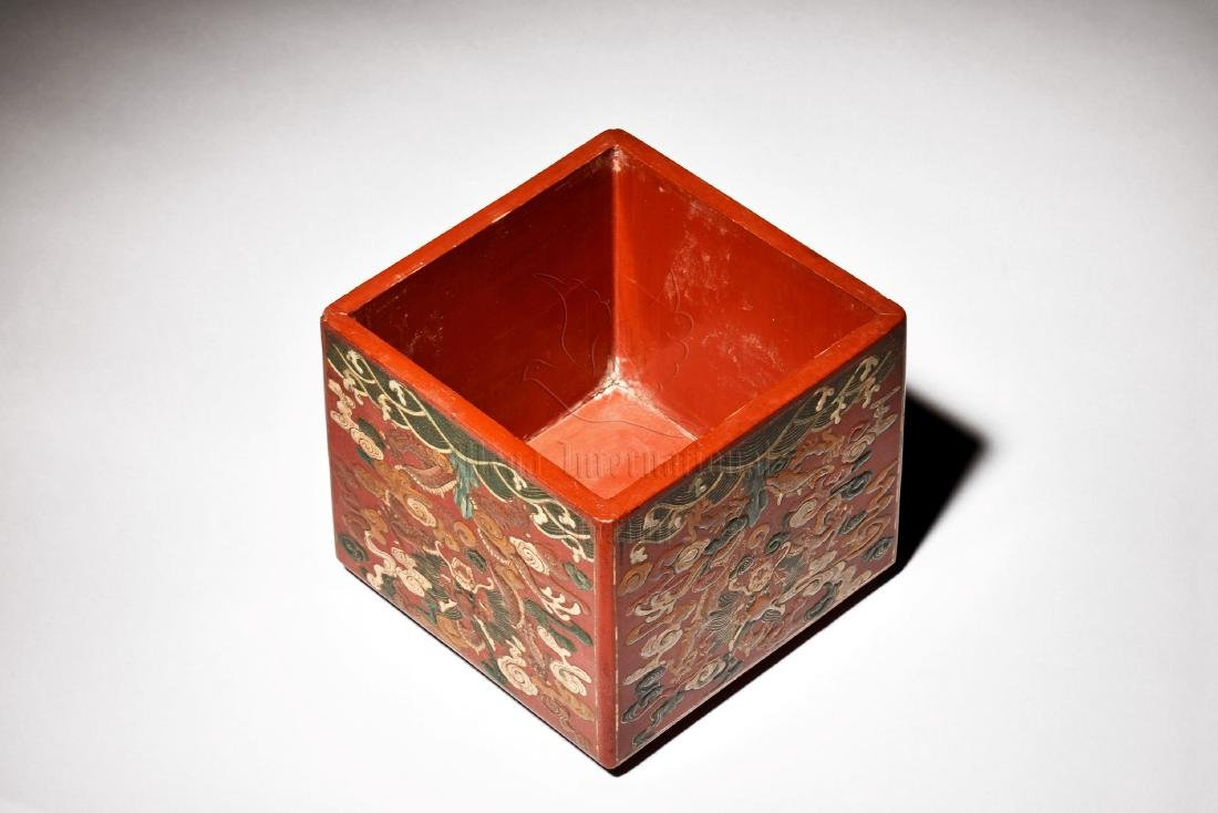 WOODEN LACQUER BOX - 5
