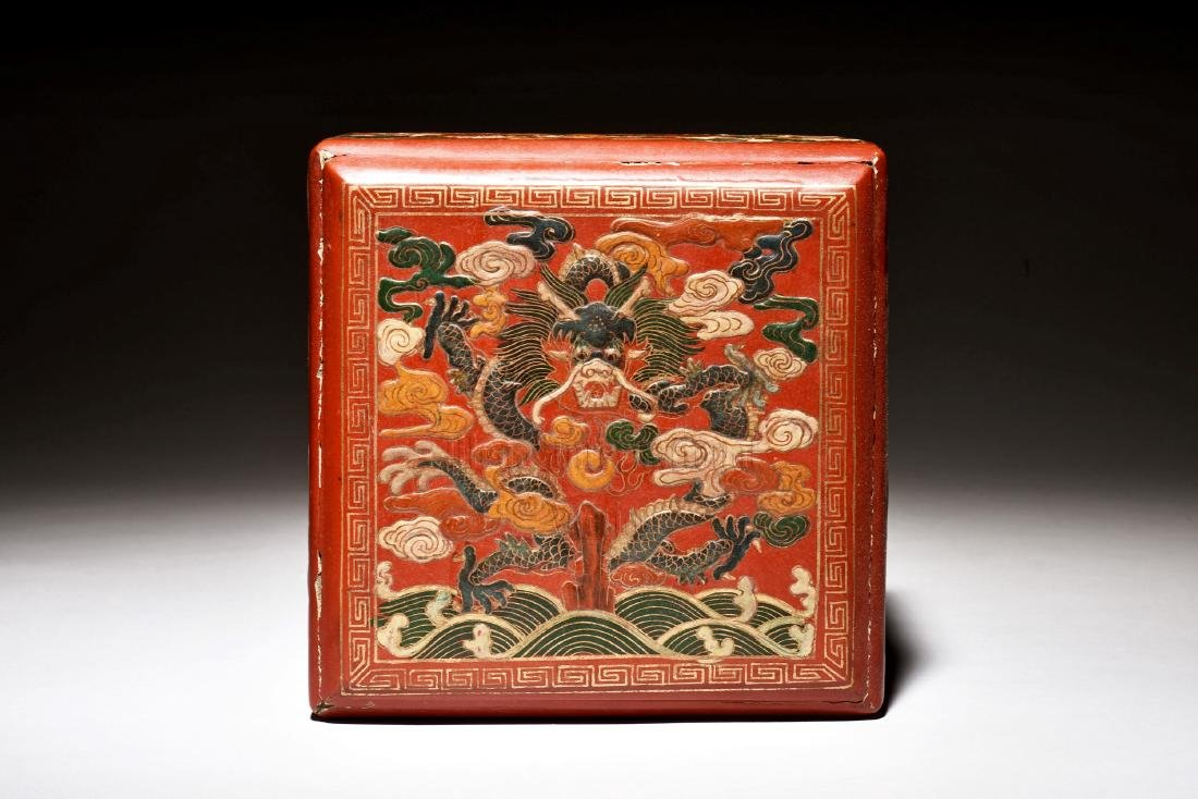 WOODEN LACQUER BOX - 6