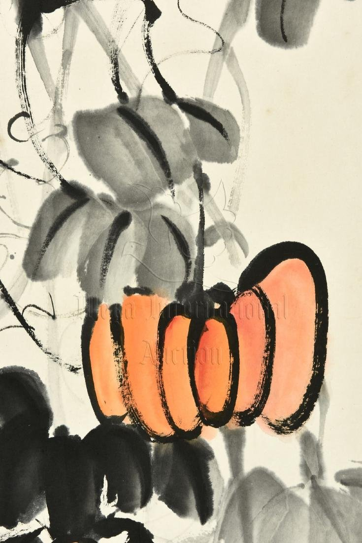 QI BAISHI: INK AND COLOR ON PAPER PAINTING 'PUMPKINS' - 3