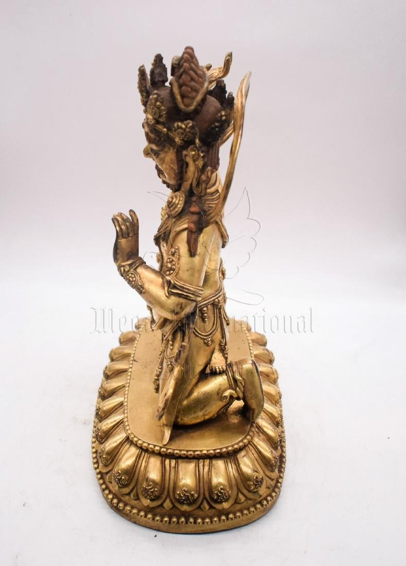 GILT BRONZE CAST VAJRAPANI FIGURE - 3