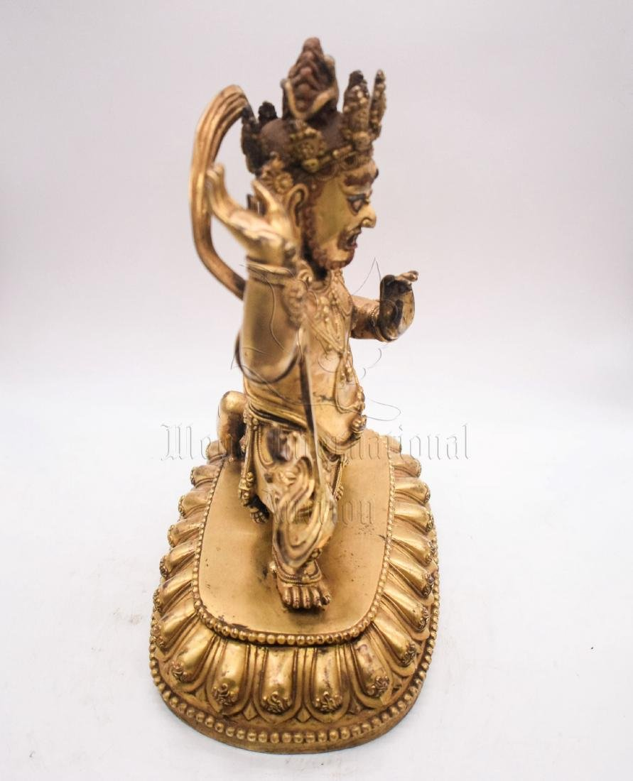GILT BRONZE CAST VAJRAPANI FIGURE - 5