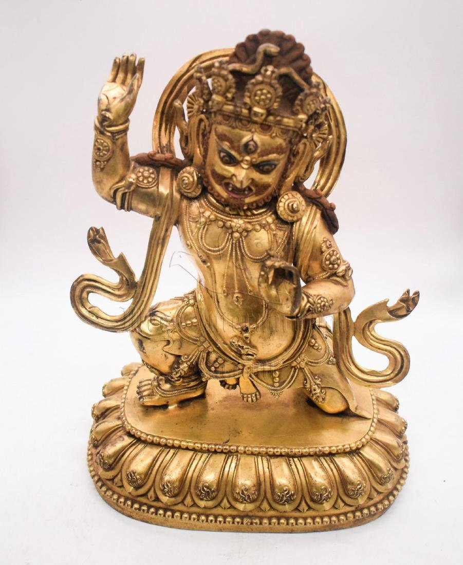GILT BRONZE CAST VAJRAPANI FIGURE - 8