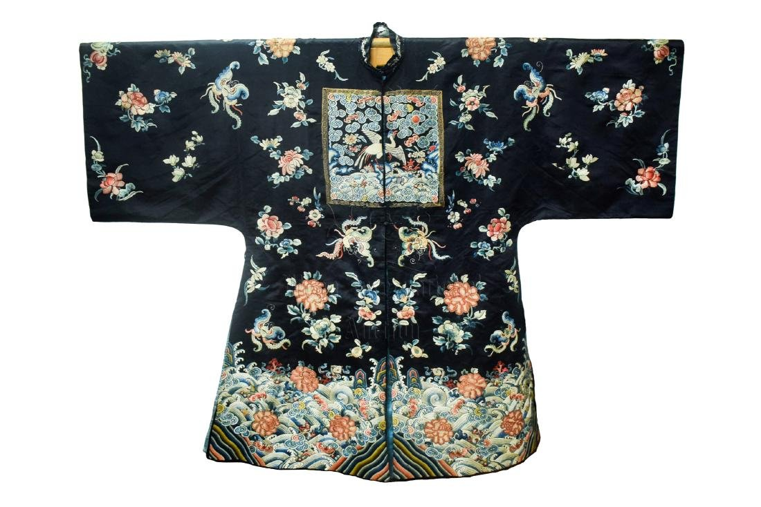 SILK EMBROIDERED 'FLOWERS' LADY'S ATTIRE