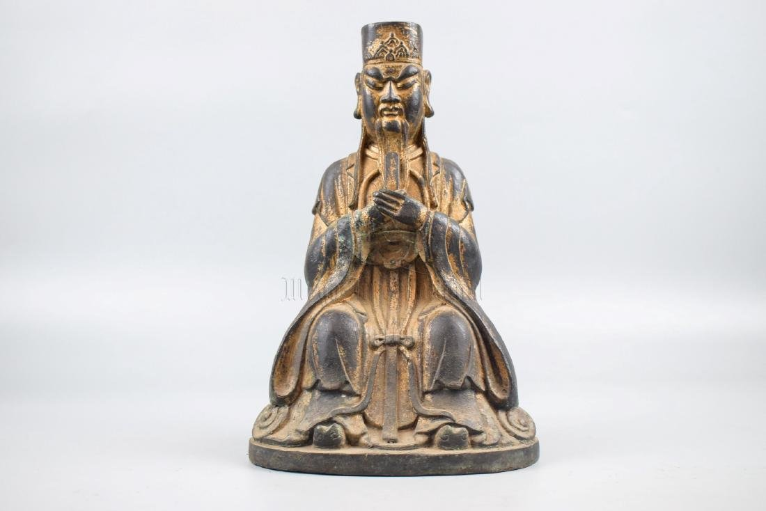 BRONZE CAST 'COURT OFFICIAL' SEATED FIGURE