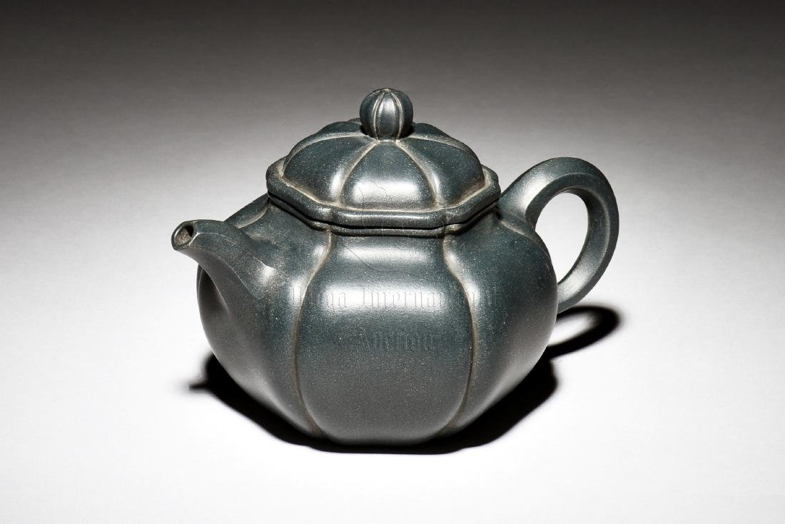 YIXING ZISHA 'LOTUS FLOWER' TEAPOT