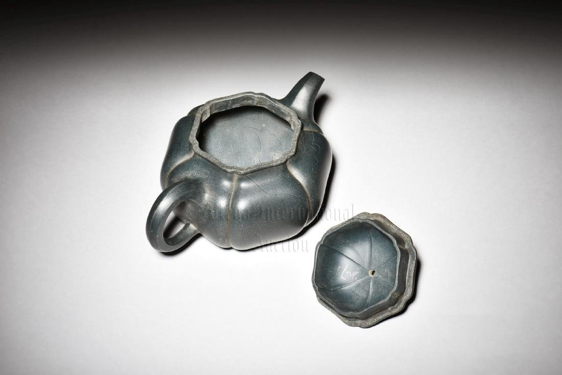 YIXING ZISHA 'LOTUS FLOWER' TEAPOT - 2