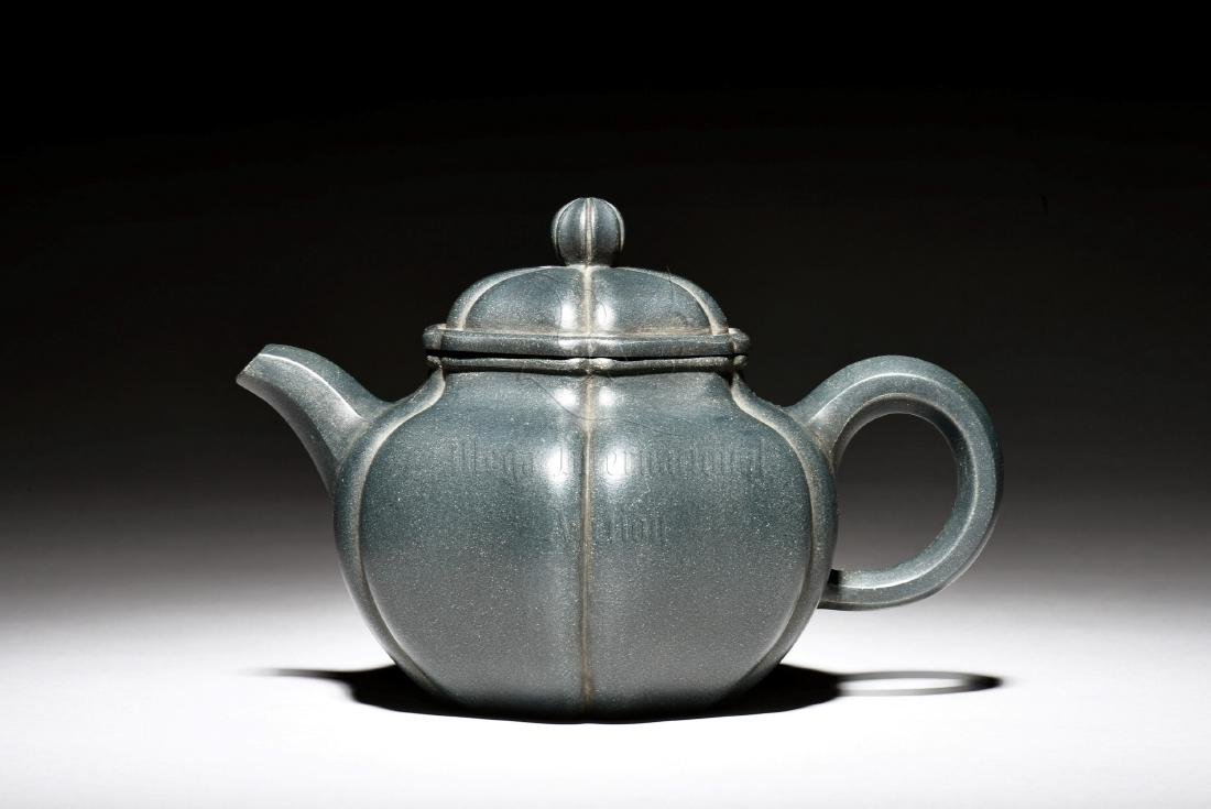YIXING ZISHA 'LOTUS FLOWER' TEAPOT - 6
