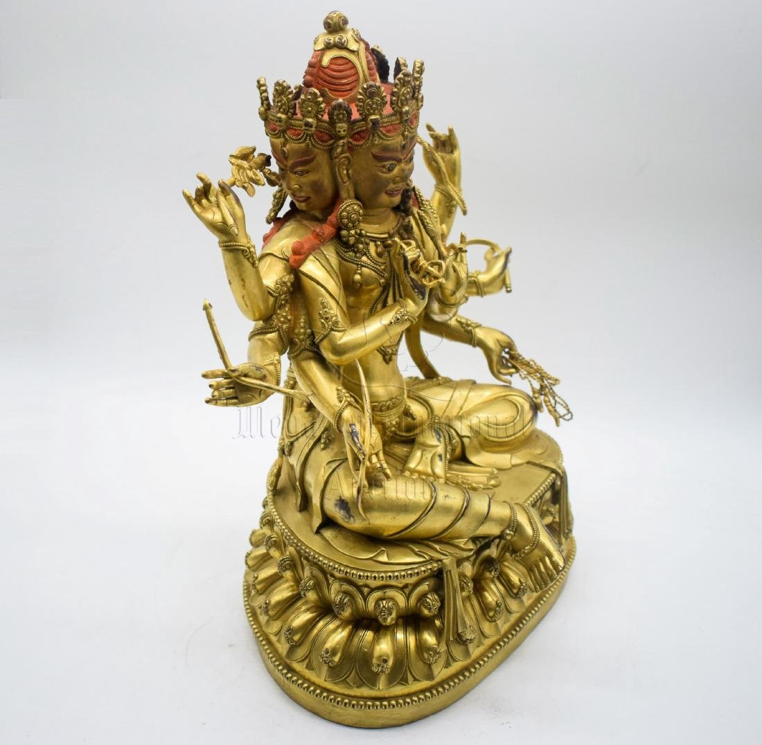 GILT BRONZE CAST 'MARICI ' SEATED FIGURE - 5