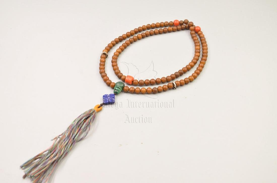 STRAND OF BODHI BEADS PRAYER NECKLACE