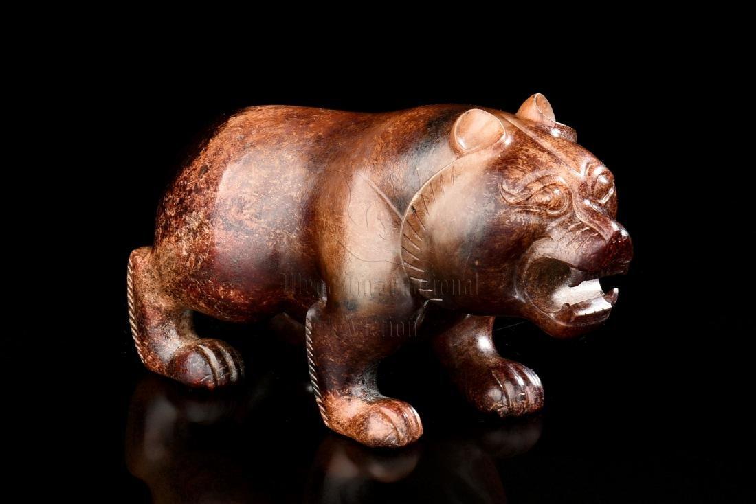 JADE CARVED 'BEAR' FIGURE