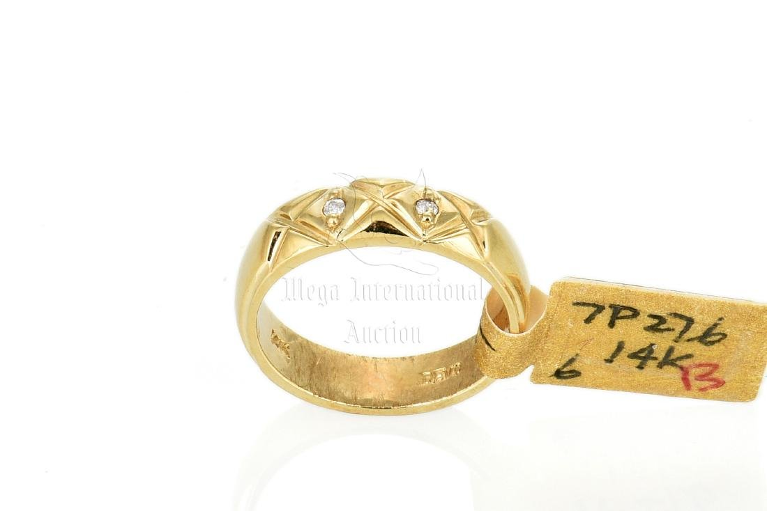 14K YG DIAMOND RING BAND