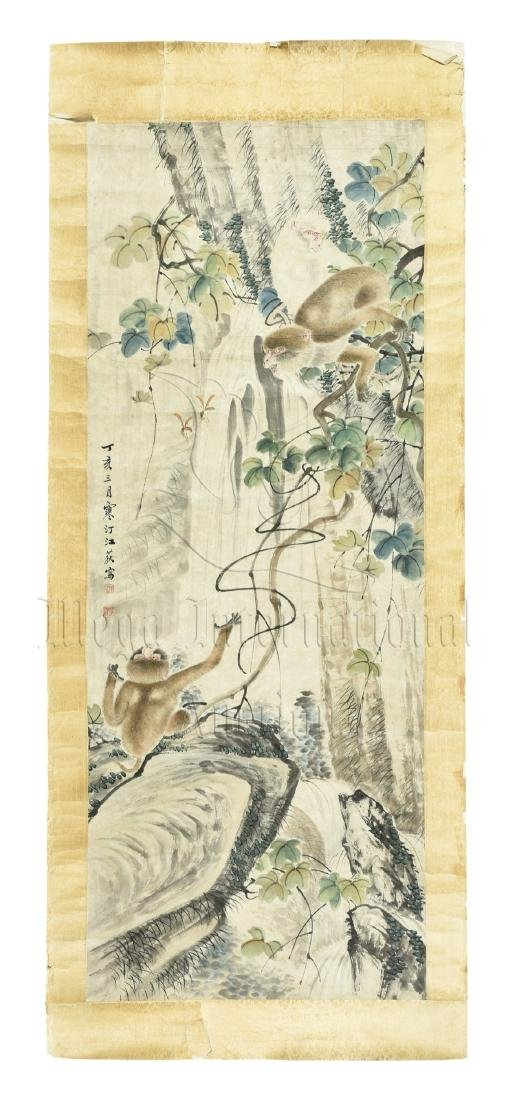 JIANG HANTING: INK AND COLOR ON PAPER PAINTING