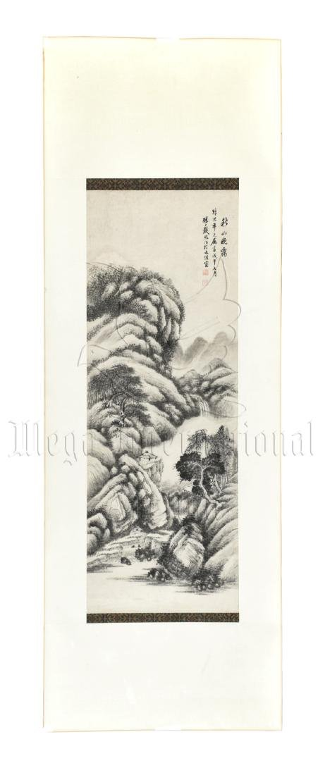 DAI XI: INK ON PAPER PAINTING 'MOUNTAIN SCENERY'