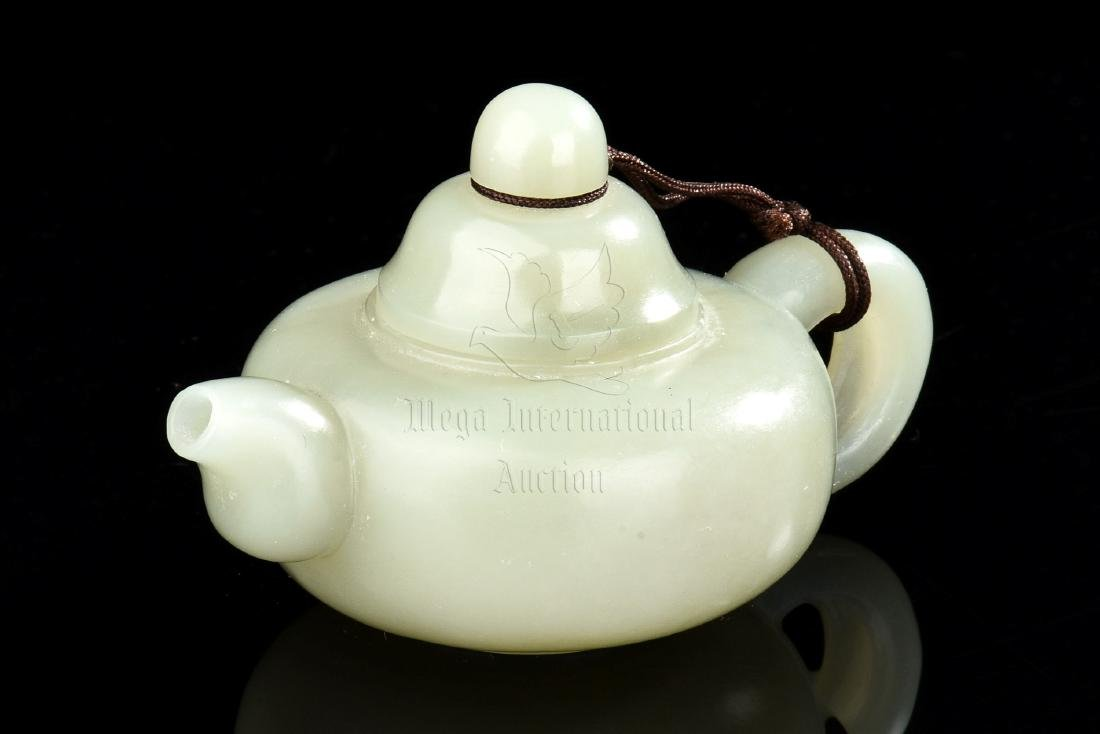 JADE CARVED TEAPOT