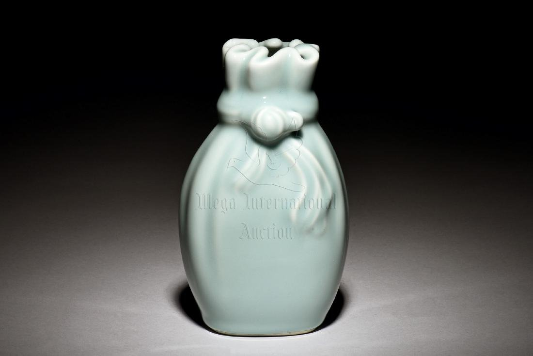 CELADON GLAZED 'BAG' VASE