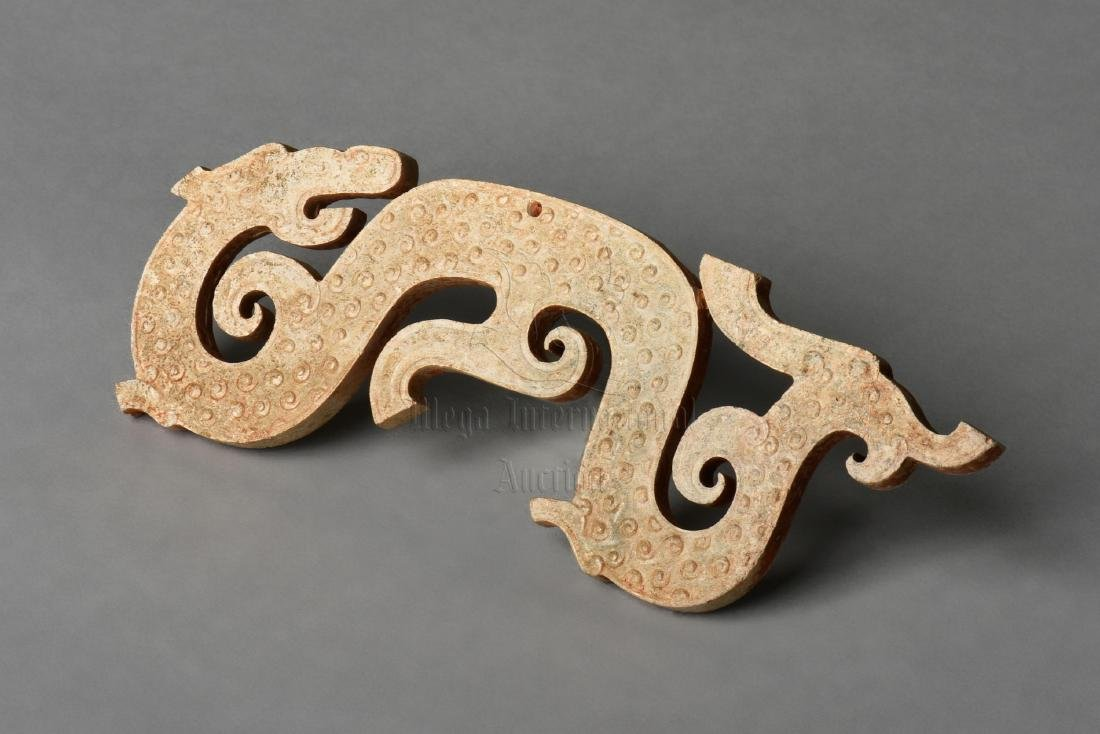 ARCHAIC JADE CARVED 'DRAGON' PENDANT