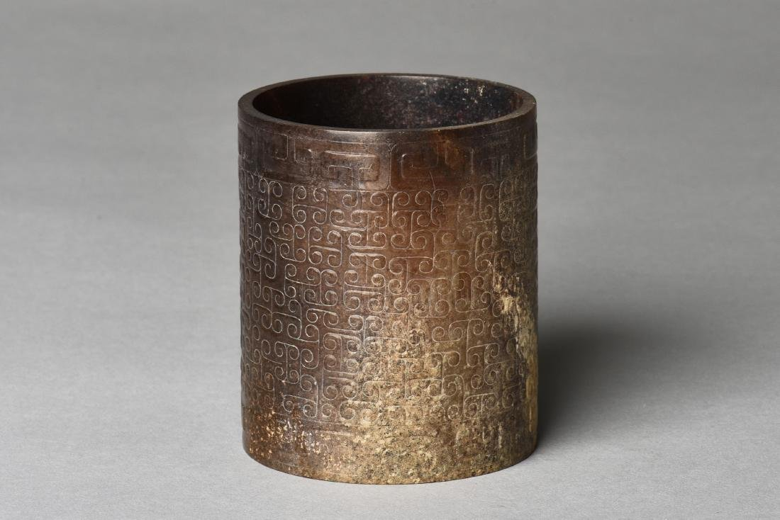 ARCHAIC JADE CARVED CUP