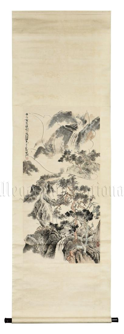 CHENG SHIFA: INK AND COLOR ON PAPER PAINTING 'MOUNTAIN