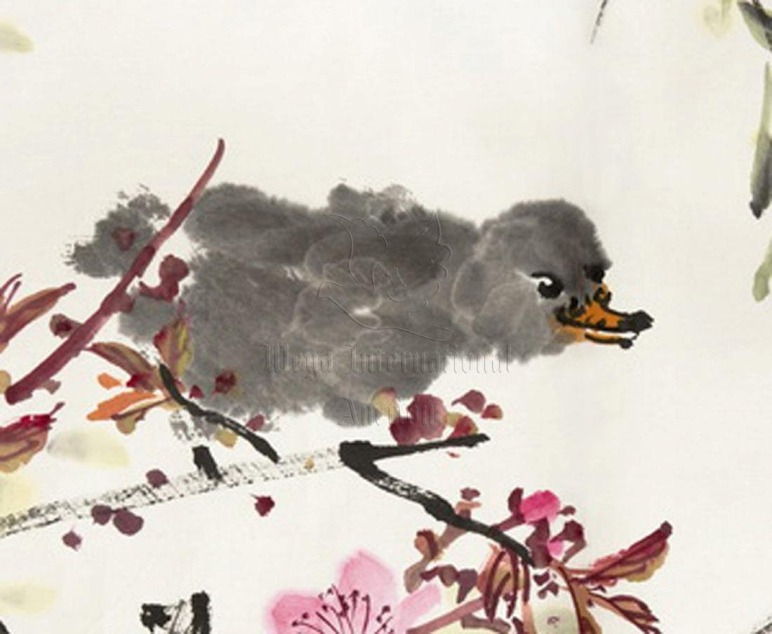 LANG SEN: INK AND COLOR ON PAPER PAINTING 'FLOWERS AND - 3