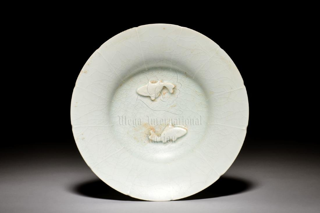 CELADON GLAZED 'FISH' DISH