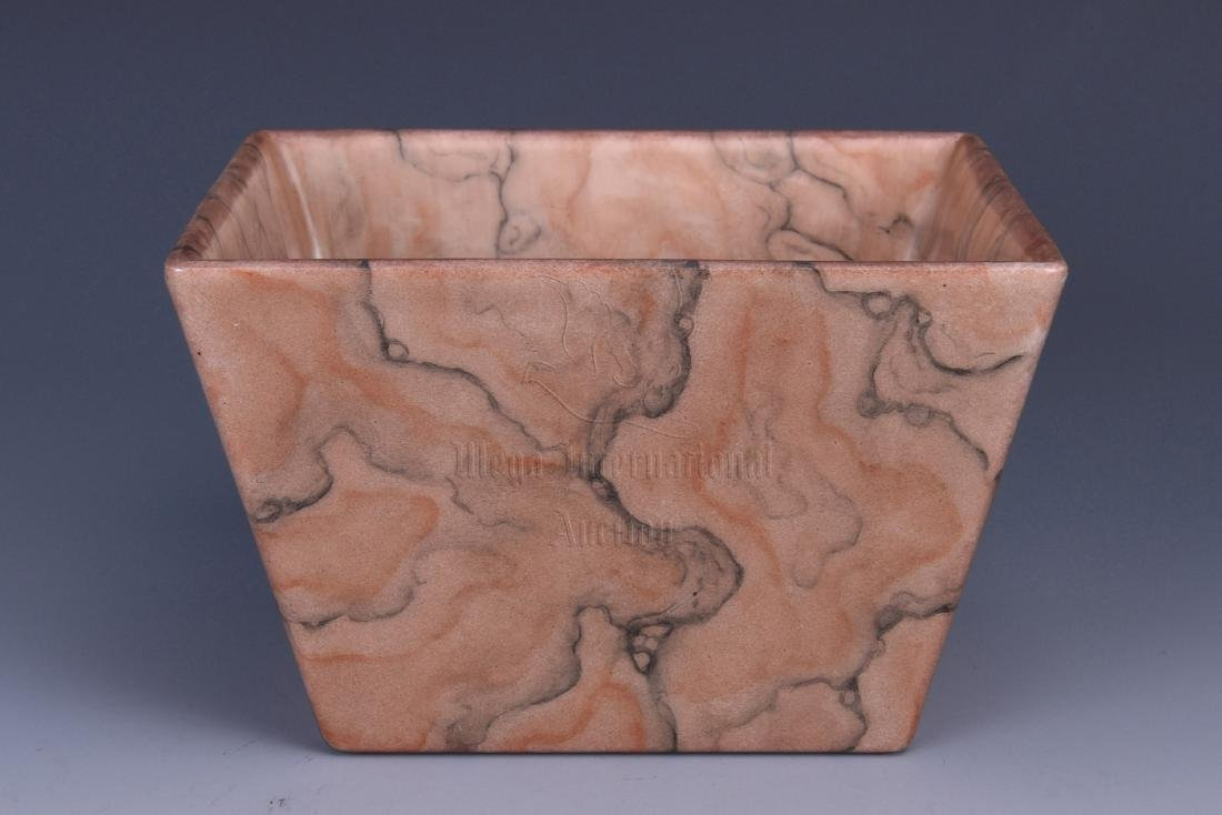 ROCK PATTERN GLAZED SQUARE CUP