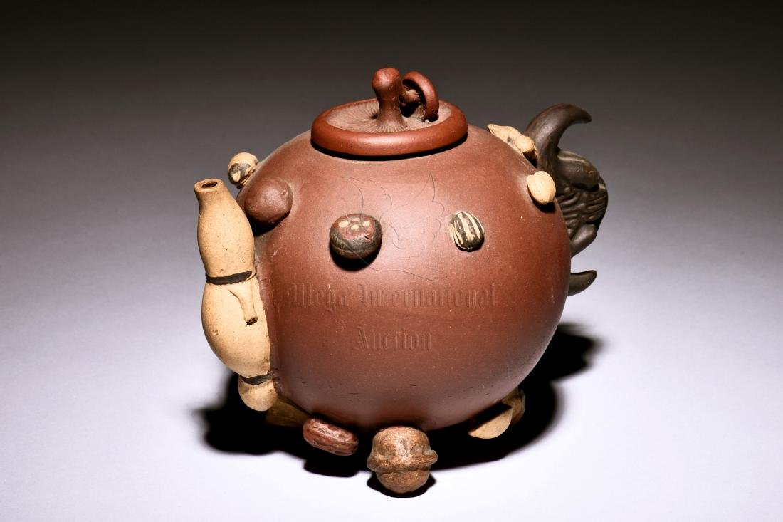 YIXING ZISHA 'MIXED NUTS' TEAPOT