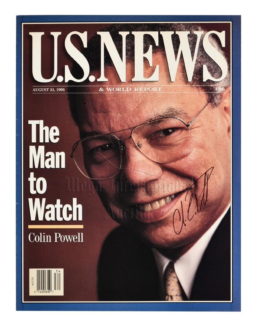 SECRETARY OF STATE COLIN POWELL SIGNED MAGAZINE COVER - 3