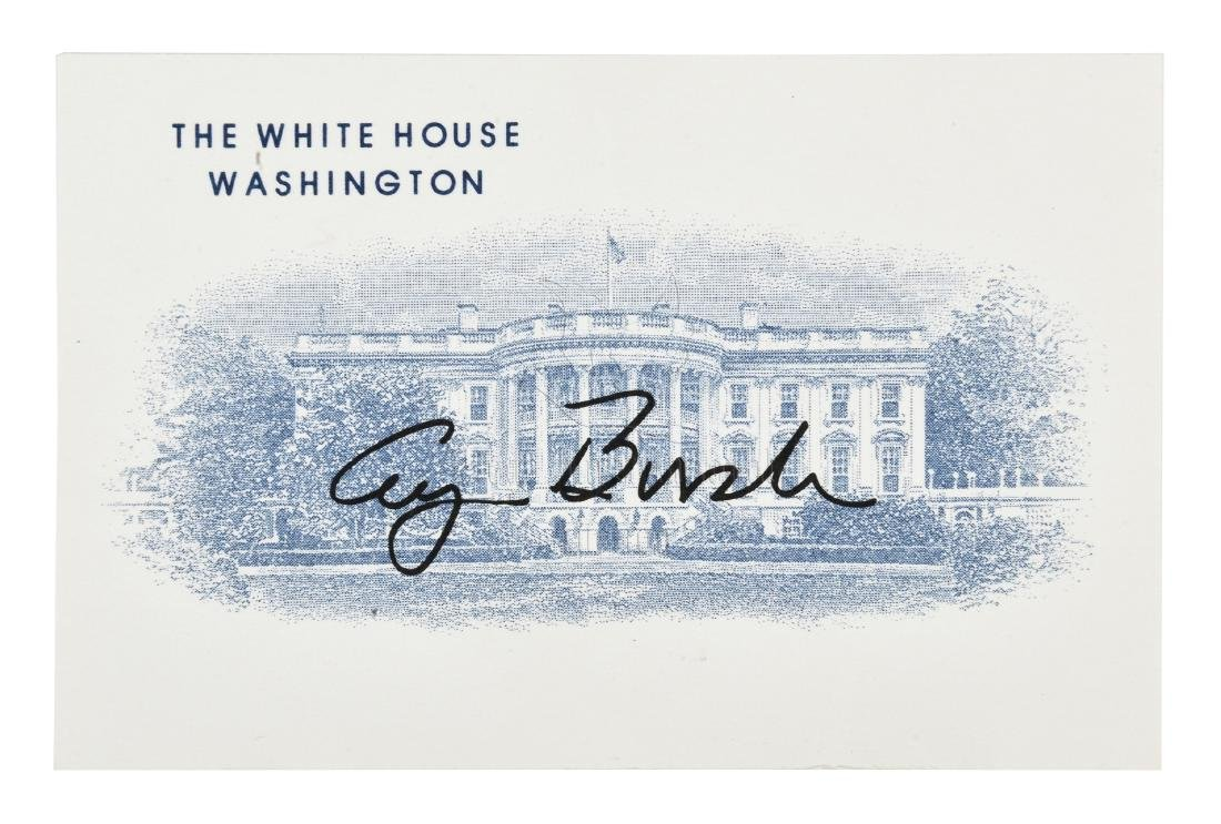 FIRST LADY LAURA BUSH SIGNED PHOTO - 5