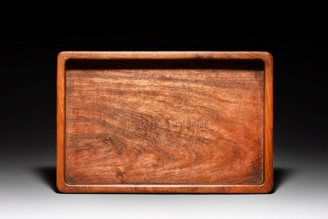 HUANGHUALI WOOD CARVED TRAY - 3