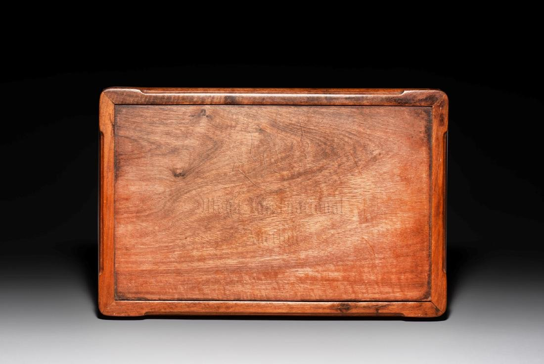 HUANGHUALI WOOD CARVED TRAY - 4
