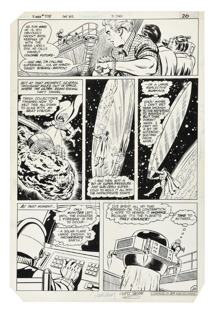 ORIGINAL SUPERMAN COMIC OFFSET STORYBOARD ISSUE #378