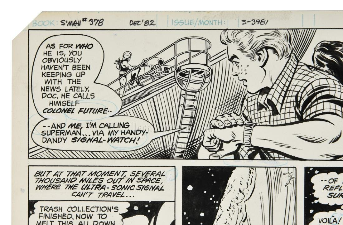 ORIGINAL SUPERMAN COMIC OFFSET STORYBOARD ISSUE #378 - 6