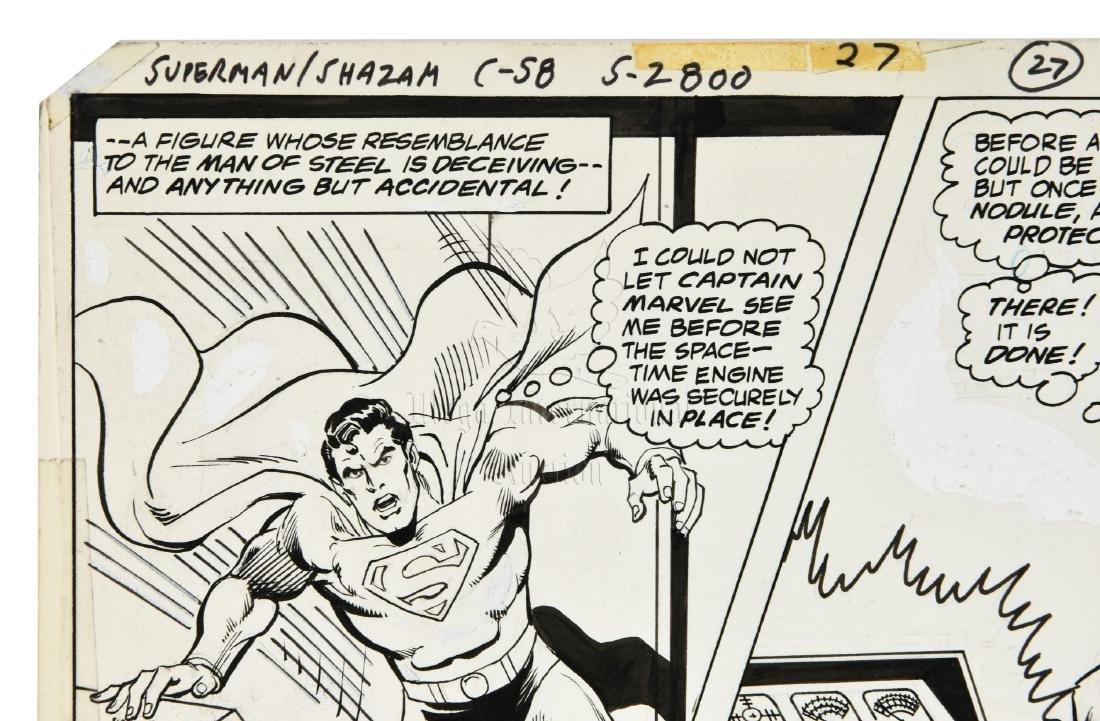 ORIGINAL SUPERMAN/SHAZAM COMIC OFFSET STORYBOARD PAGE - 4