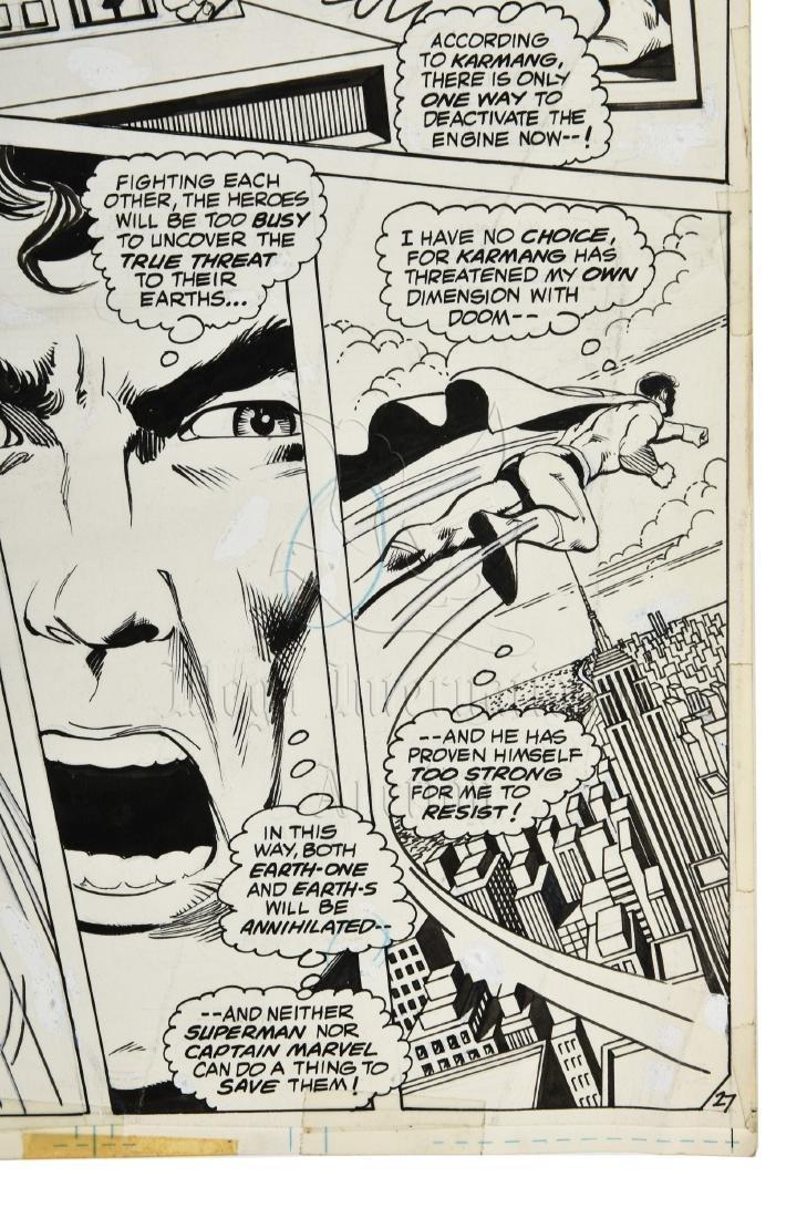 ORIGINAL SUPERMAN/SHAZAM COMIC OFFSET STORYBOARD PAGE - 5