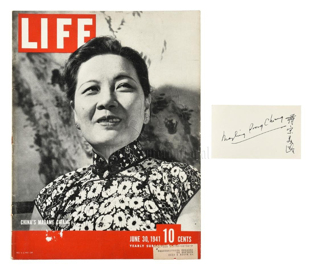MADAME CHIANG SOONG MEI-LING TIME MAGAZINE COVER AND