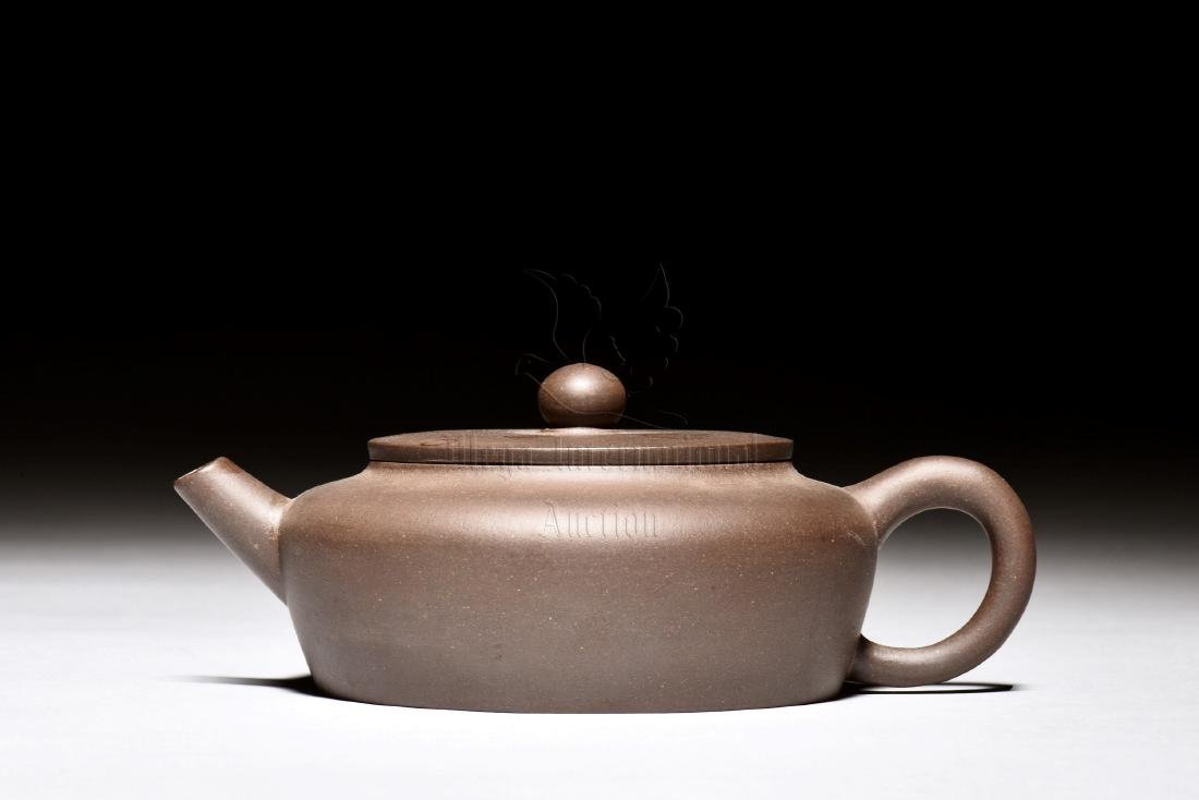 YIXING ZISHA COMPRESSED TEAPOT - 5