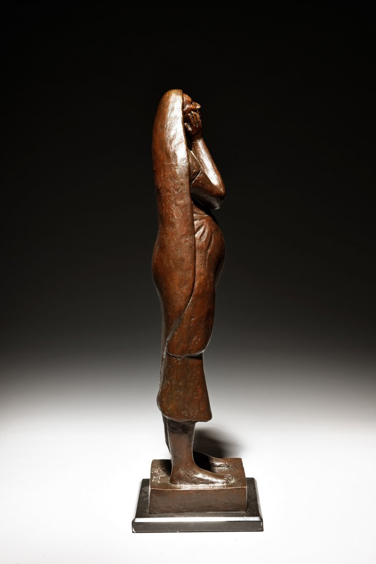 FRANCISCO ZUNIGA FIGURE OF A WOMAN WITH HANDS TO FACE - 2