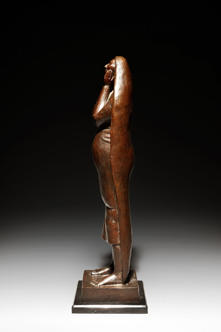 FRANCISCO ZUNIGA FIGURE OF A WOMAN WITH HANDS TO FACE - 4