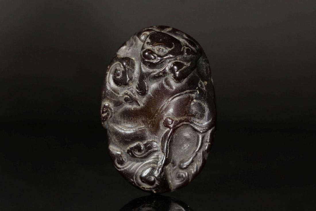 JADE CARVED 'MYTHICAL BEAST' PENDANT