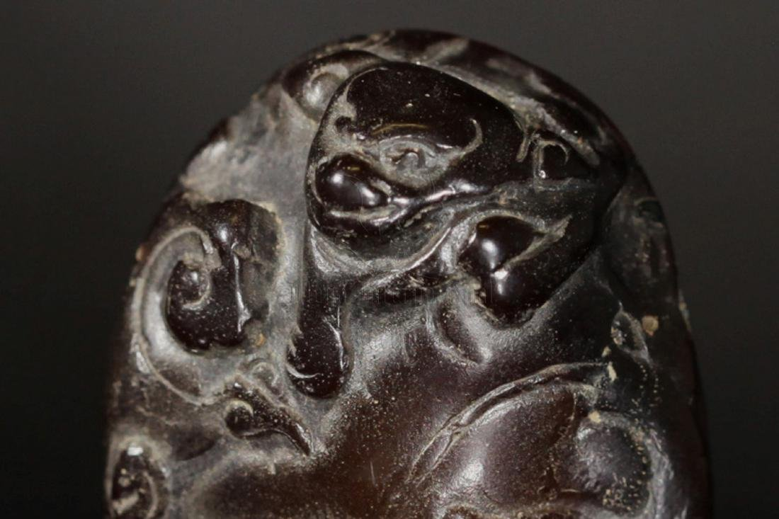 JADE CARVED 'MYTHICAL BEAST' PENDANT - 4