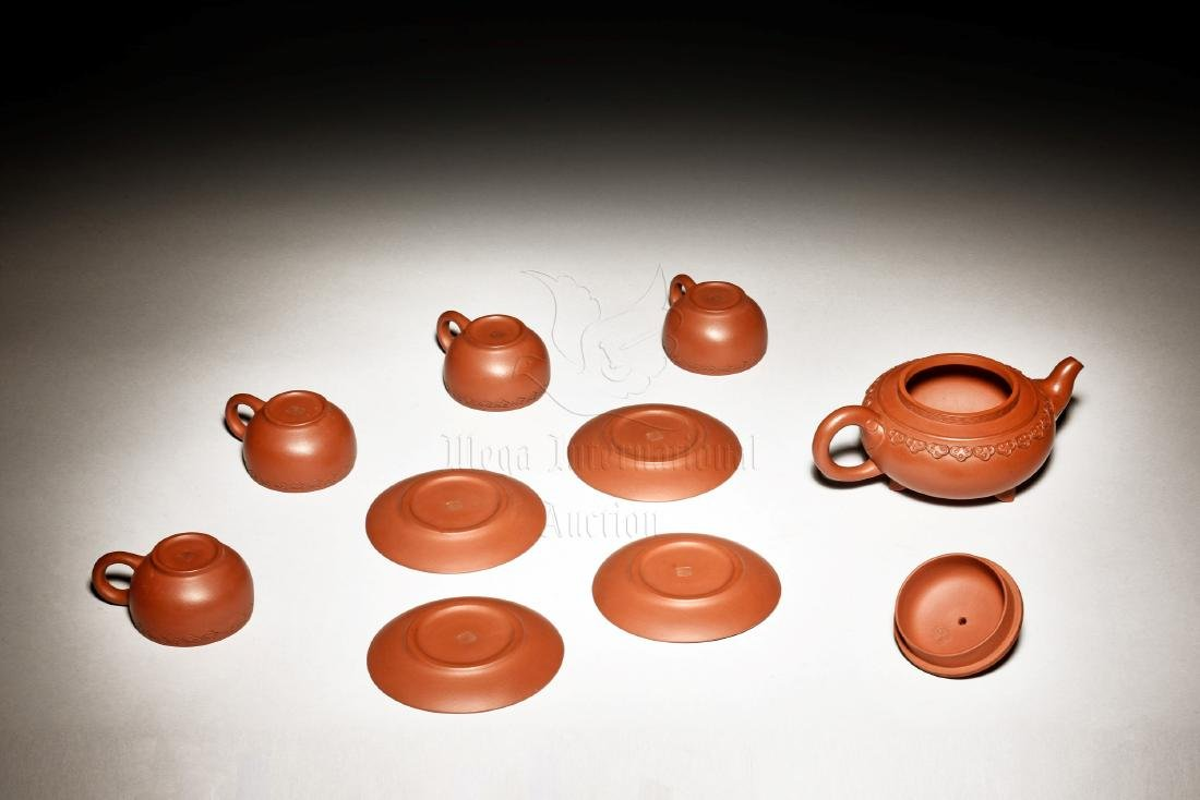 GU JINZHOU: SET OF FIVE ZISHA TEAPOT AND TEA CUPS - 2