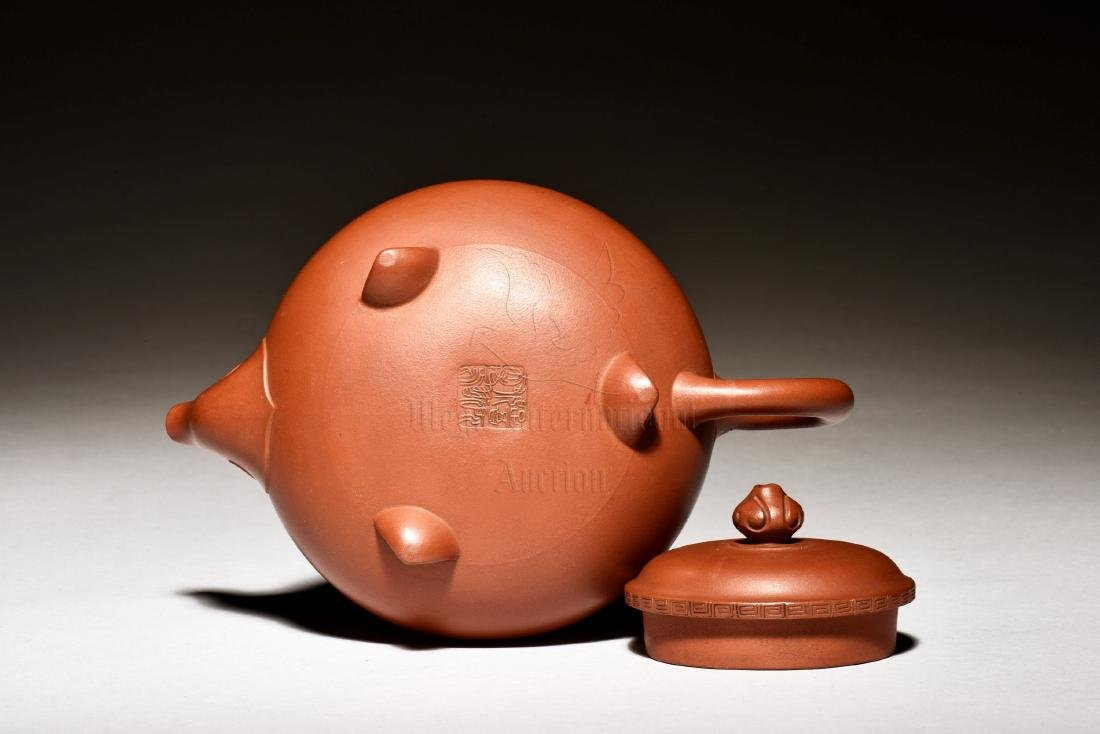 GU JINZHOU: SET OF FIVE ZISHA TEAPOT AND TEA CUPS - 4