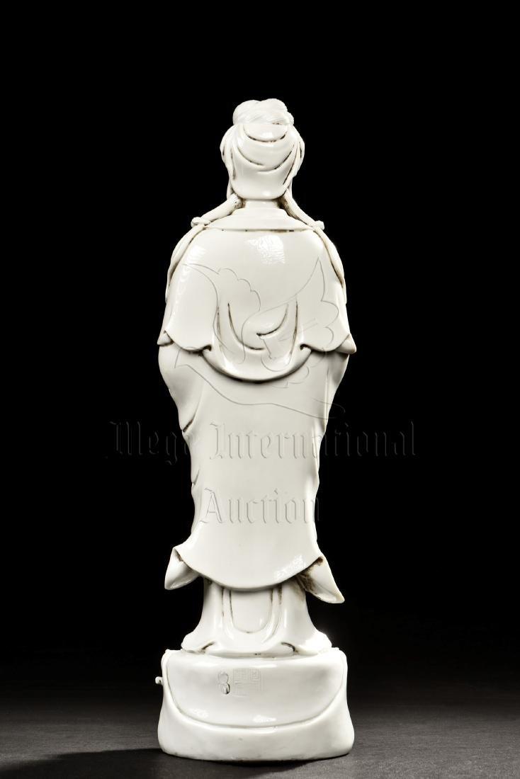 BLANC DE CHINE DEHUA GUANYIN STANDING FIGURE - 3