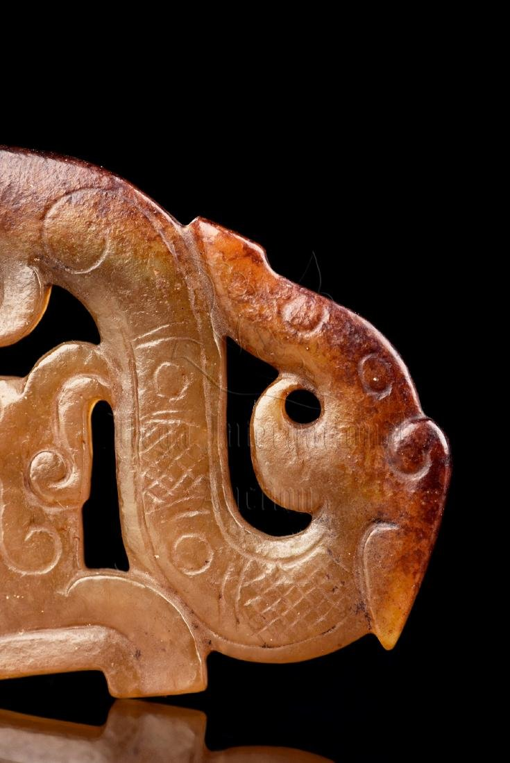 JADE CARVED 'DRAGON' PENDANT - 4