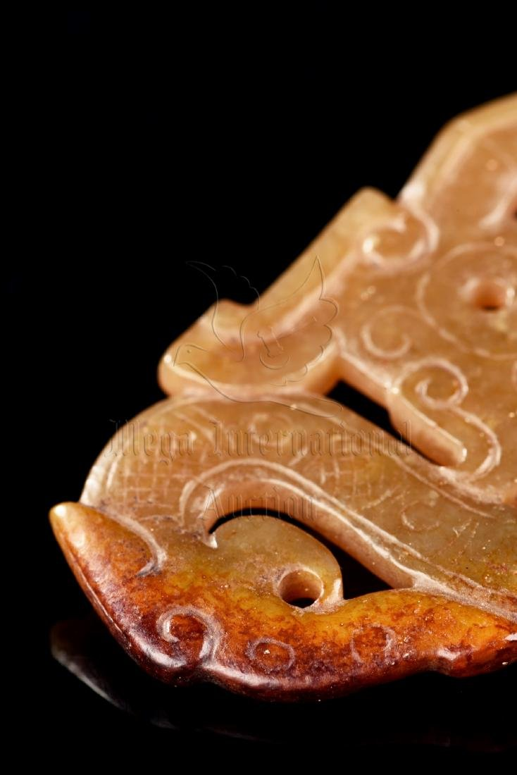 JADE CARVED 'DRAGON' PENDANT - 7