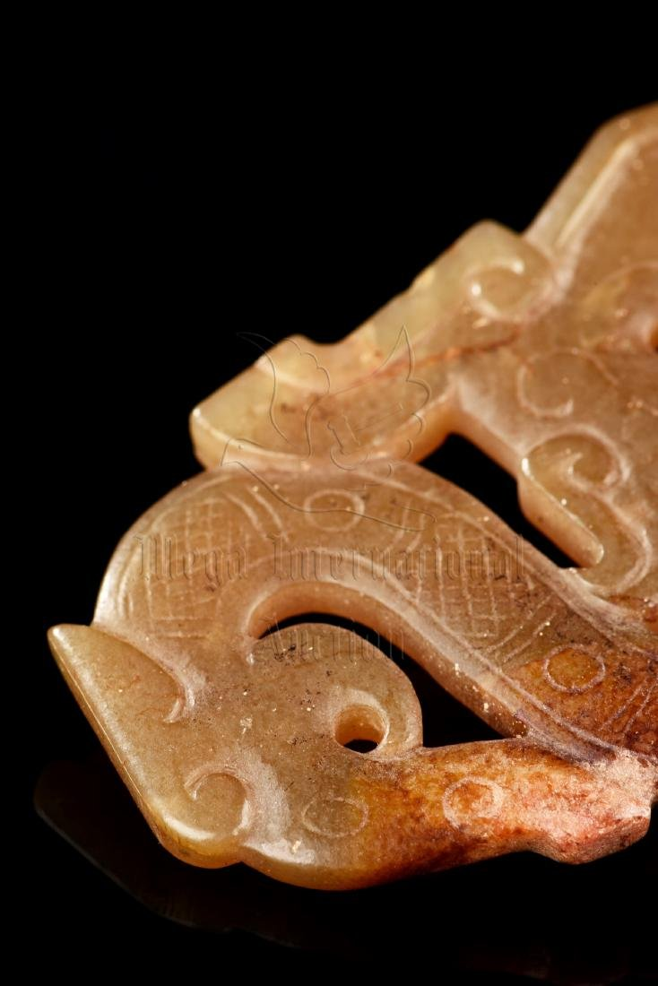 JADE CARVED 'DRAGON' PENDANT - 8